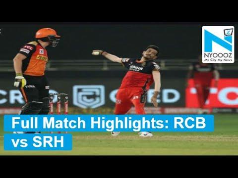 RCB vs SRH highlights: SRH beats RCB by five wickets