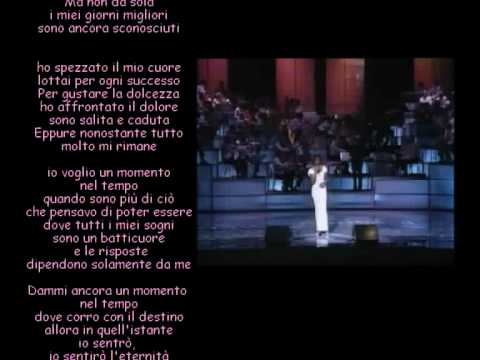 Whitney Houston Live - One moment in time con traduzione italiano