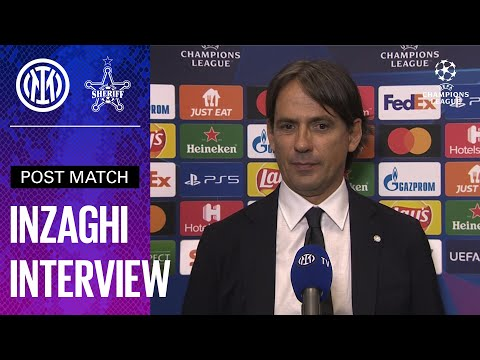 INTER 3-1 SHERIFF   SIMONE INZAGHI EXCLUSIVE INTERVIEW [SUB ENG] ⚫