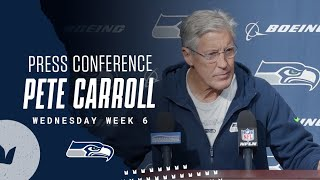 Pete Carroll Seahawks Wednesday Press Conference - October 13