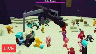 So I Forced 100 Minecraft Players to fight the ENDER DRAGON