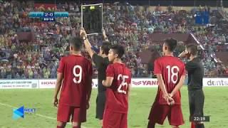 """Nã đại bác rung chuyển khung thành U23 Myanmar, Martin Lò """"chào hàng"""" khán giả Việt nam  NEXT SPORTS"""