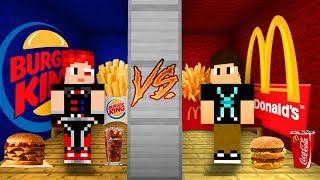 QUARTO DO MCDONALD'S VS QUARTO DO BURGER KING DO MINECRAFT!