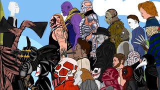 Battle Of Jason,Michael,Freddy,Leatherface,Chucky,Pennywise,ghostface,sirenhead,slenderman and +more