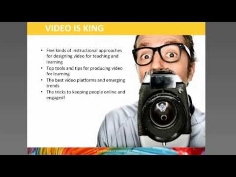 Webinar Pt 1: Instructional approaches for designing video for learning.