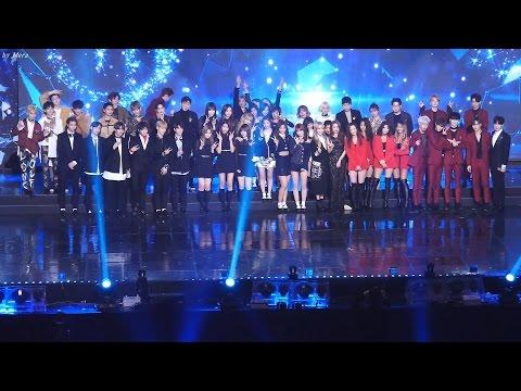 170222 EXO,NCT127,TWICE,여자친구,씨스타,마마무 ,GOT7 엔딩 (Ending)기념촬영 [전체] 직캠 Fancam (2016 가온차트어워드) by Mera