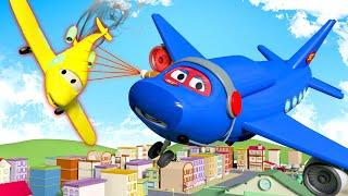 Máy bay phản lực - Siêu xe tải Carl 🚚⍟ những bộ phim hoạt hình về xe tải
