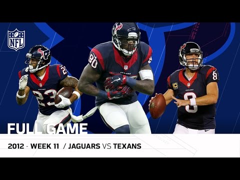 Andre Johnson & Matt Schaub Lead Texans Comeback, OT Win vs. Jaguars (Week 11, 2012) | NFL Full Game