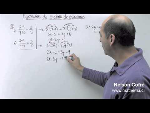 Sistema de ecuaciones 5