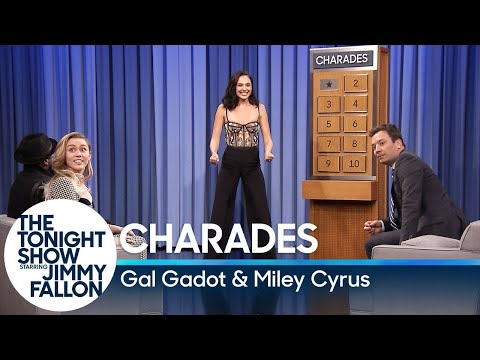 Charades with Gal Gadot and Miley Cyrus