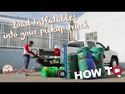 How to Load Inflatables into your Pickup Truck: HOW TO | Magic Jump, Inc.