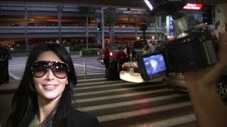 Kim K. And The Kardashians Arrive Back In Los Angeles [2010]