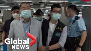 Hong Kong police arrest media tycoon Jimmy Lai, raid newsroom under new Chinese security law