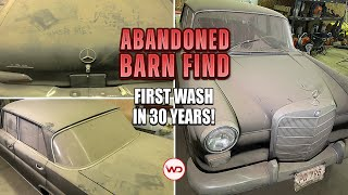 ABANDONED BARN FIND First Wash In 30 Years Mercedes 190C! Satisfying Car Detailing Restoration