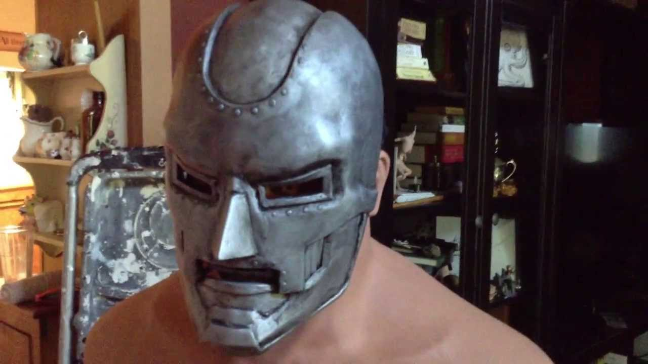 Spray Paint Mask >> Dr Doom Mask - YouTube