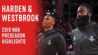 Russell Westbrook and James Harden 2019 Preseason Highlights | Most Electric Backcourt the NBA?