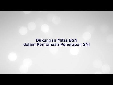 https://youtu.be/qY0_MqOtDOYDukungan Mitra BSN dalam Pembinaan Penerapan SNI