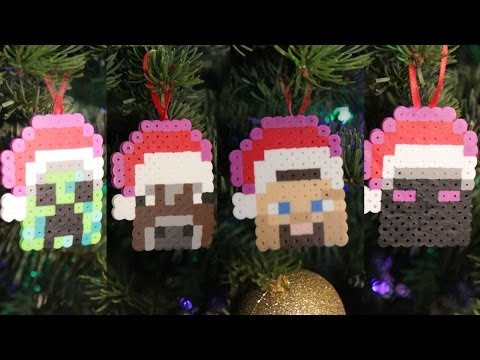 Minecraft 8 Bit Christmas Ornaments - DIY GEEKY GOODIES - Smashpipe Style