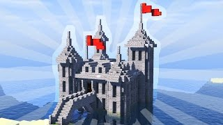 How To Build a Mini Castle in Minecraft! (CREATIVE BUILDING)