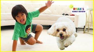 Ryan vs. Dog Racing who will win??? + Shopping for Mom's Birthday!!!