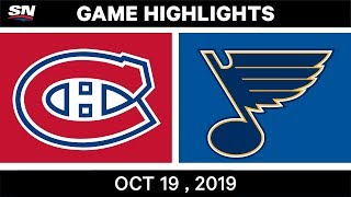 NHL Highlights | Canadiens vs. Blues - Oct. 19, 2019