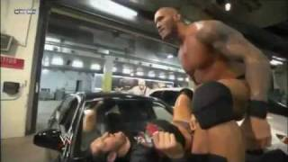 Randy Orton Beats the Hell out of Wade Barrett And RKO ON A Car