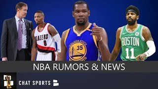 NBA Rumors: Kevin Durant & Kyrie Irving Free Agency, Damian Lillard Contract & Tobias Harris News