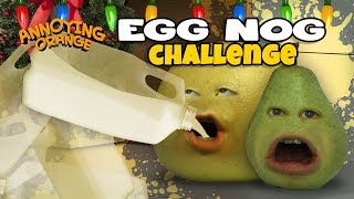 EGG NOG GALLON CHALLENGE! [Grapefruit & Pear]