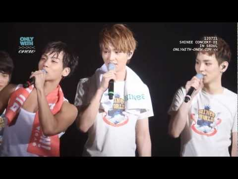 120721 Onew and Jjong imitate Taemin's solo ^▽^