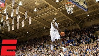 Zion Williamson leads Duke to blowout win over Indiana   College Basketball Highlights