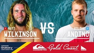 Matt Wilkinson vs. Kolohe Andino - Quiksilver Pro Gold Coast 2016 Final
