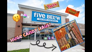 INSANE FIVE BELOW DUMPSTER DIVING CANDY HAUL ( OVER 300 PIECES)