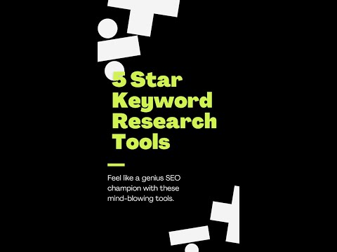 5 Star Keyword Research Tools For SEO