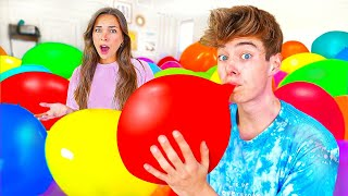 FILLED BESTFRIENDS ROOM WITH BALLOONS!!
