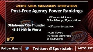 NBA Power Rankings: Post-Free Agency Edition