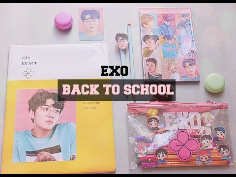 DIY K-POP : EXO Decora tus útiles escolares ver. Lucky one