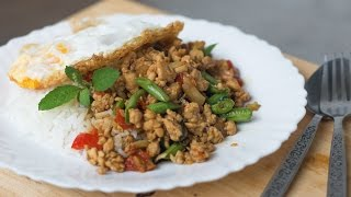 Thai Holy Basil Stir-Fry Recipe (Pad Gaprao) ผัดกะเพรา - Hot Thai Kitchen!