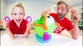 Father & Son PLAY FISH & FLIPS! / Toss Your Worms!