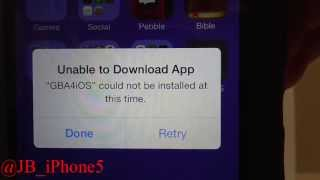 """GBA4iOS -100% Fix - """"Unable to Download App"""""""