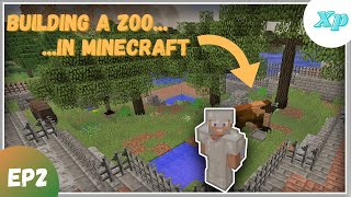 Building A Zoo In Minecraft EP2 - An American Bison Exhibit!