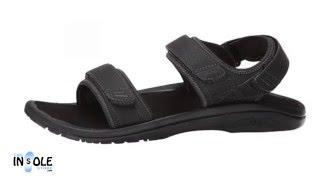 Olukai Hokua Pahu Black & Rosin Adjustable Sandals for Men @TheInsoleStore.com