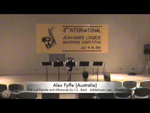 3rd JMLISC: Alex Fyffe (Australia) cello suite n.4 J.S. Bach