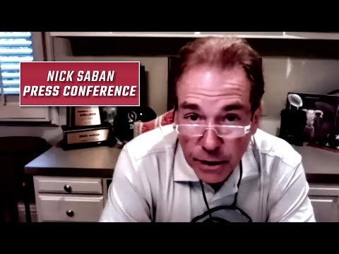 Nick Saban tests positive for COVID-19: Watch his press conference following the news Wednesday