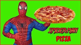 Can Spiderman Make Pizza? This Superhero Cooks a Weird Pizza & Learns Colors with Finger Family Song