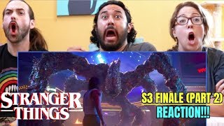 "STRANGER THINGS | SEASON 3 FINALE ""Chapter 8: The Battle Of Starcourt"" REACTION!!! (Part 2)"