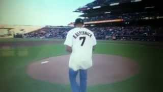 Colin Kaepernick Throws Out First Pitch