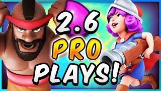 UNBREAKABLE DEFENSE! PRO PLAYS with 2.6 HOG RIDER CYCLE! — Clash Royale