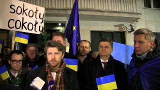 Briefing Twojego Ruchu pod Ambasadą Ukrainy