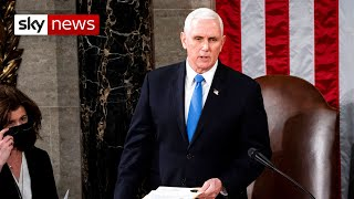 VP Mike Pence announces Joe Biden is certified as the 46th President of the United States