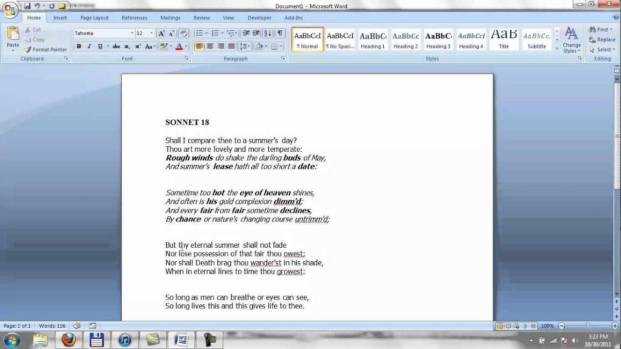 Shakespeare sonnet 18 critical essay